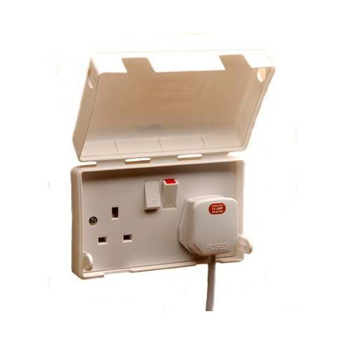 Insight 13a Double Electric Socket Cover