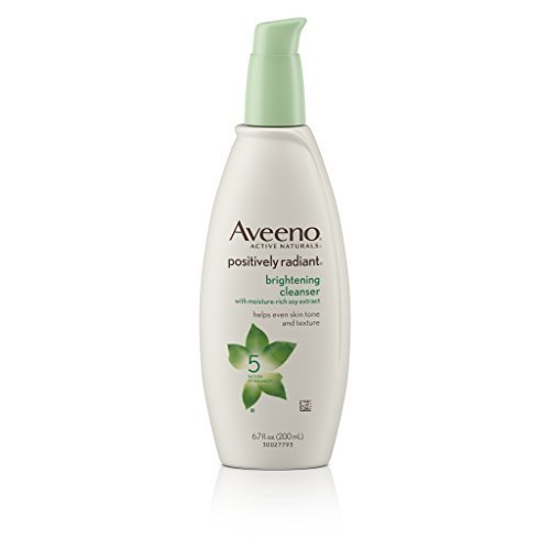 Aveeno Positively Radiant Brightening Cleanser For Face, 6.7 Fl. Oz (Pack of 3)