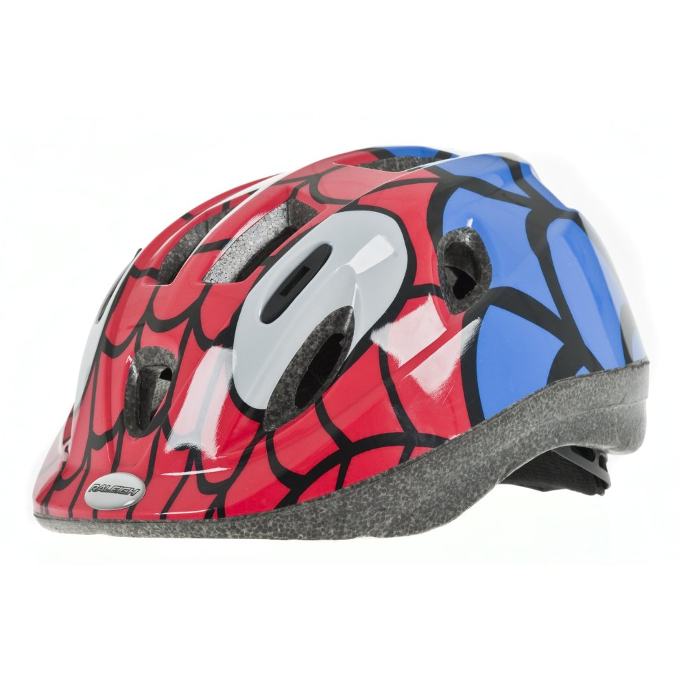 98d72c3527f Raleigh Boy's Mystery Spiderman Cycle Helmet - Red/Blue, 52-56 cm on ...
