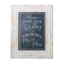Wishes Framed Sign Black