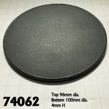 Reaper Miniatures 74062 - 100mm Round Bases - Pack of 4