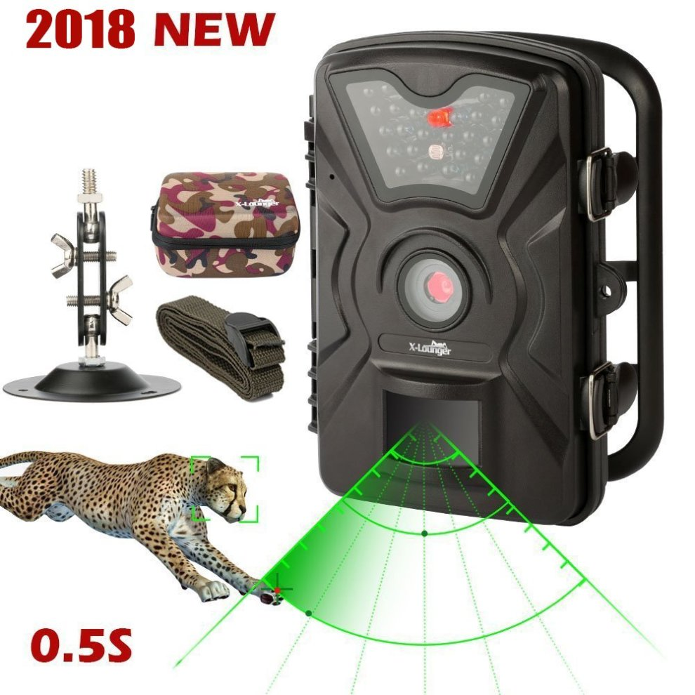7172e7a1b61 Wildlife Trail Camera Trap 1080P 12MP No Glow Infrared Night Vision Motion  Activated Animal Camera Cam 0.5s Trigger Speed 2.4Inch Screen IP66... on  OnBuy