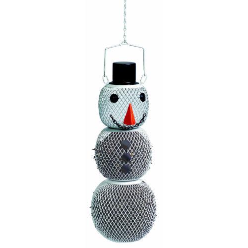 No/No Solar Powered LED Snowman Wild Bird Feeder