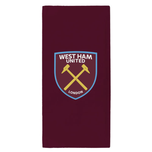 West Ham United Fc Towel, Claret - Towel Beach Bath Official -  towel west ham united fc beach bath official
