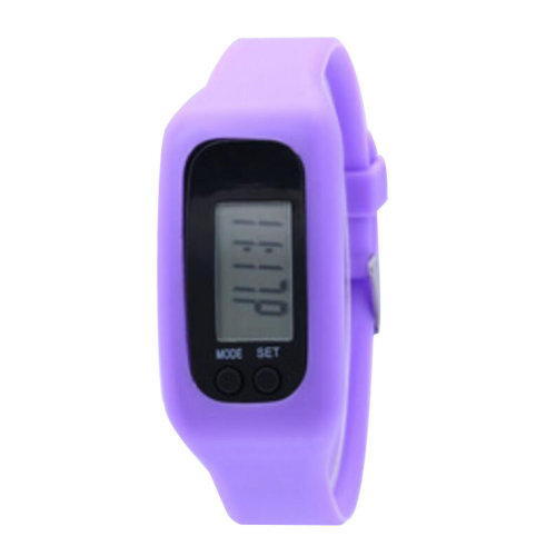 Pedometer for Walking Step Counter Sports Watches Fitness Trackers Band Purple