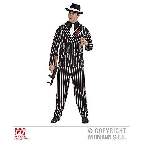 Mens Gangster Costume Extra Large Uk 46  For 20s 30s Mob Capone Bugsy Fancy - costume 20er years gangster men new mens carnival  sc 1 st  OnBuy & Mens Gangster Costume Extra Large Uk 46