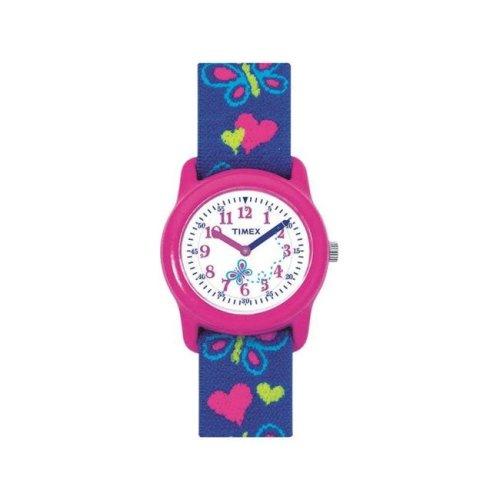 Timex 6518310 Wrist Watch Girl Round Analog Water Resistant - Pink & Purple