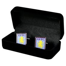 Aston Villa Crest Cufflinks -  cufflinks aston villa football official fc crest gift club