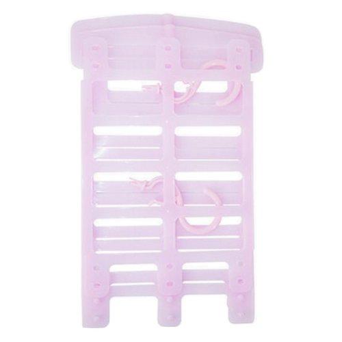 Pillow Doll Drying Rack Multi-function Plastic Adjustable Hanger Holder Pink
