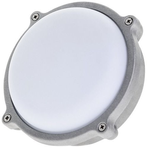 7 watt LED round outdoor bulkhead light 80% energy saving weatherproof Timeguard Night Eye LEDBHR7W