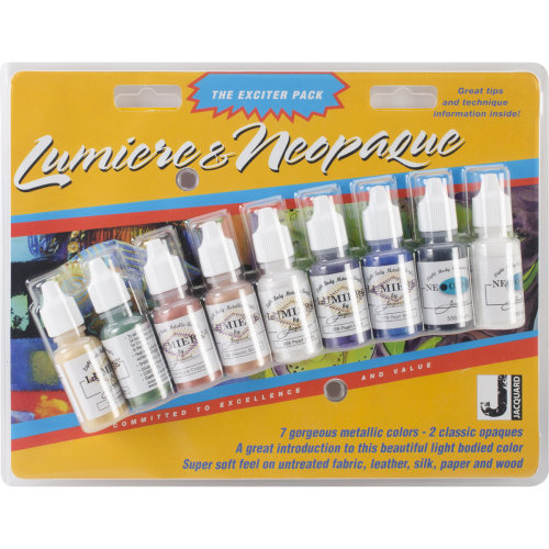Jacquard Lumiere/Neopaque Pack .5oz 9/Pkg-