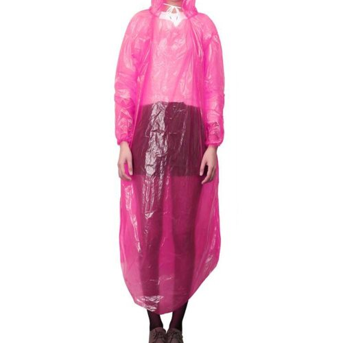 5 Pcs Raincoat Disposable Plastic Travel Camping Rainwear Emergency Waterproof