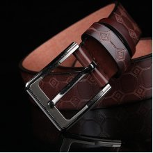 115-125CM Men Causal Needle Buckle Belt European American Style Pin Buckle Waistband