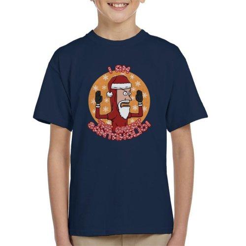 Beavis And Butthead The Great Santaholio Christmas Kid's T-Shirt