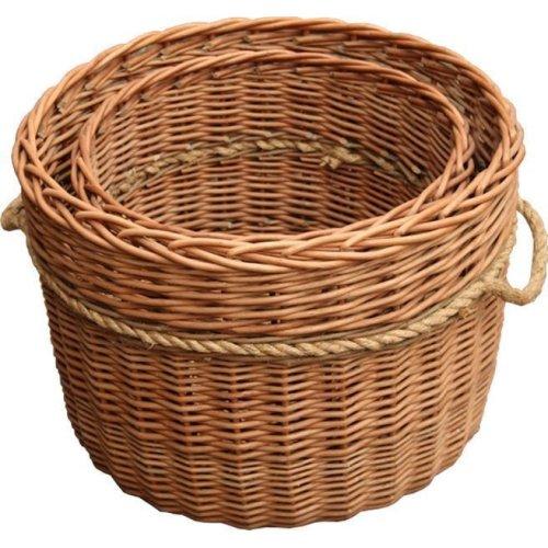 Set of 2 Kendal Log Baskets