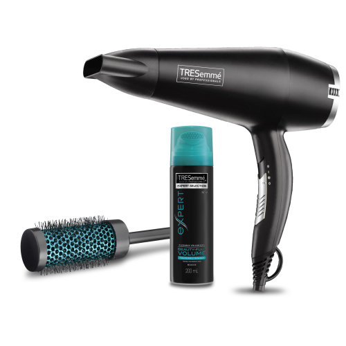Hair Dryer Set Salon Smooth Powerful Ionic Ceramic 2200w 5542NU with Volume Mousse and Drying Brush from TRESemme