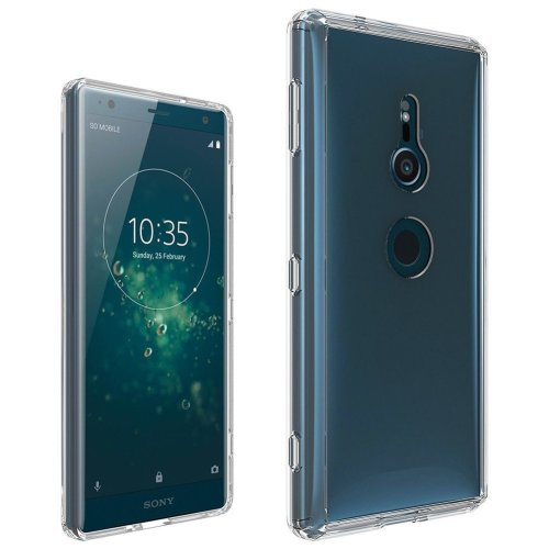iPro Accessories Xperia Xz2 Case, Xperia Xz2 Clear Case, [Fusion] [Clear] [Silicone Case] [Slim] [Phone Charm] [Gel Case] [Transparent] [Shock Absorption] [Compatible With Xperia Xz2 Screen Protector Tempered Glass]