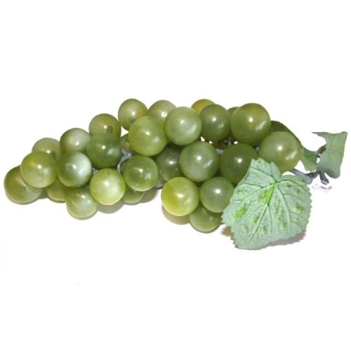 Artificial Green Grapes Bunch - 18 x 8.5cm - Decorative Plastic Fake Fruit Grape