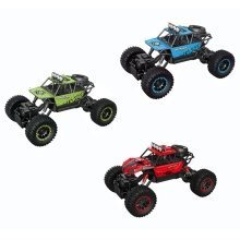 Roll over image to zoom in deAO RC Off Road Rock Crawler 1:18 4WD Car with High Speeds and 2.4GHz Sync System for Multi Players