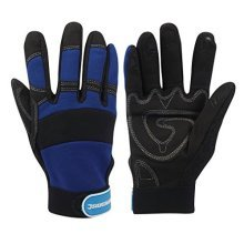 Silverline Mechanics Gloves Large - 763587 Fingerless Safety Size -  mechanics gloves silverline large 763587 fingerless safety size