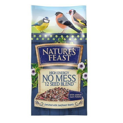 Nature's Feast High Energy No Mess 12 Seed Blend Bird Food, 5 kg