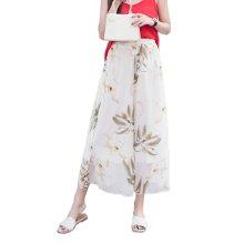 Stylish Printing Design Loose Fitting Pants Wide Leg Trousers Slacks for Women, #05