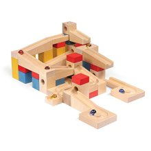 VARIS Wooden Marble Run XL, European Made Early Learning Construction Toys for Kids