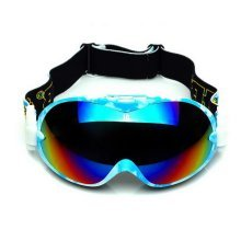 Fashion Ski Goggles for Adult Coated Colorful Lens Dual-layers Goggles, Sky Blue