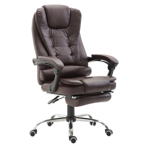 Homcom PU leather Recliner Swivel Office Chair Footrest