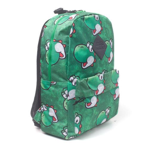 NINTENDO Super Mario Bros. Yoshi Face Sublimation Print Backpack Green BP365