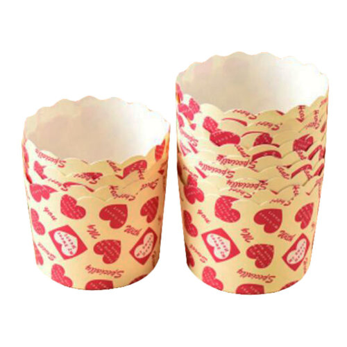 Baking Cups Maffin Cup Best Quality Cupcake Paper 50 PCS-Heart