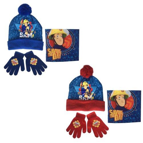 Fireman Sam Hat, Snood and Gloves