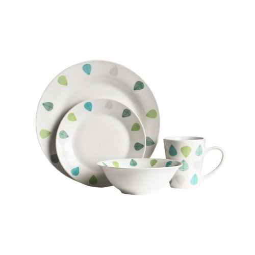 Green Leaf 16Pc Dinner Set, Porcelain