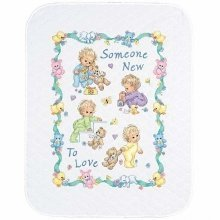 D72963 - Dimensions Stamped X Stitch - Quilt: Someone New Baby