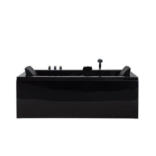 Left Hand Whirlpool Bath Black VARADERO