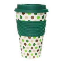 Ecoffee Cup Organic Bamboo Fibre Reusable Coffee Cup Basket Case 400ml (order 36 for Trade Outer)