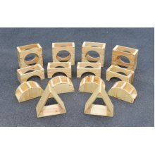 Childrens 14 Piece Giant Wooden Hollow Blocks Set (A1520)