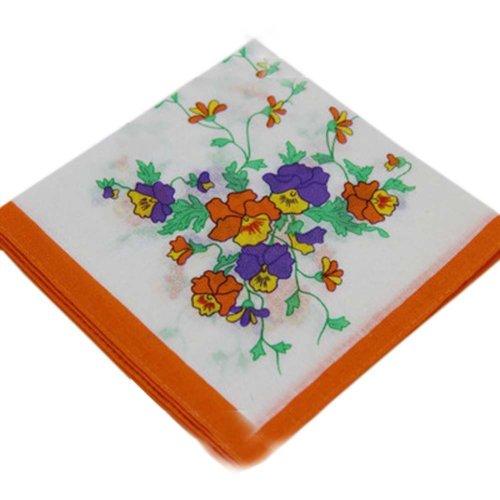 3 Pcs Vintage Handkerchiefs Ladies Pocket Flowers Handkerchief,  #13