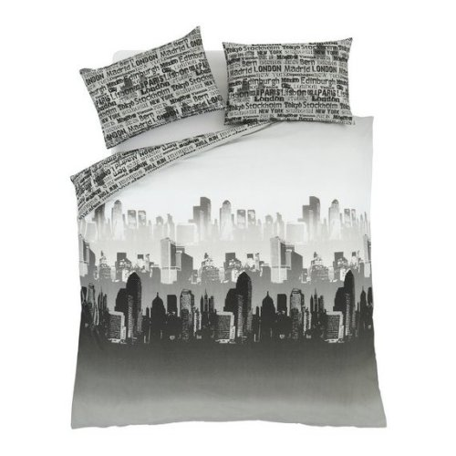 Single City Scape Bedding Set by Catherine Lansfield