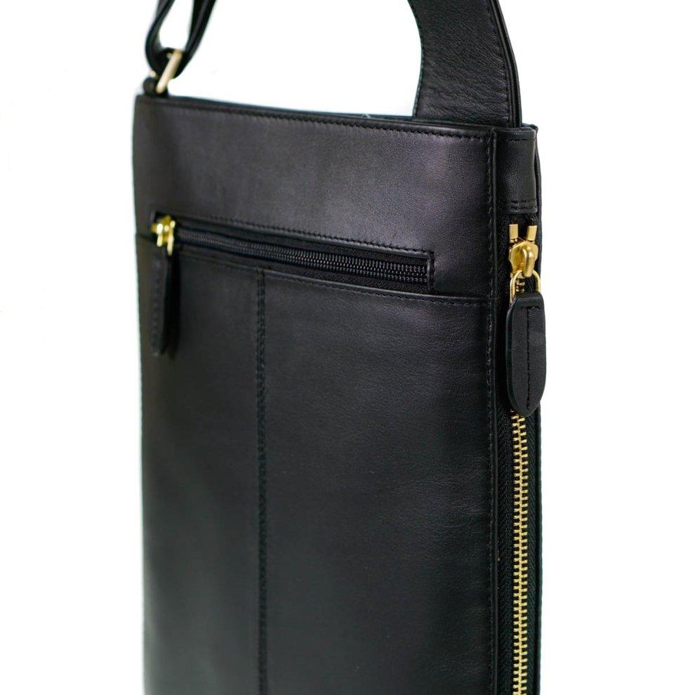 ec0015689774 ... Radley Pocket Bag Black Leather Medium Zip Top Cross Body Bag - 1 ...