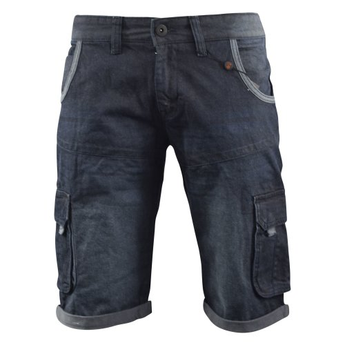 Mens jeans short crosshatch combat casual cargo