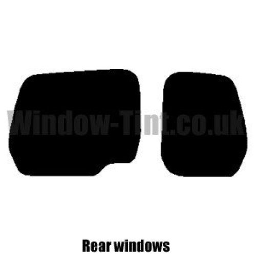 Pre cut window tint - Peugeot Partner Van - 2008 and newer - Rear windows