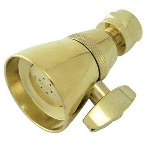 Kingston Brass K131A2 1-.75 Inch Diameter Brass Shower Head - Polished Brass