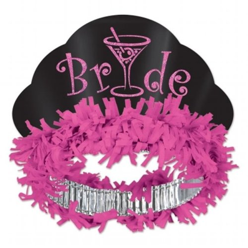 Beistle Company 66089 Glittered Bride Tiara - Pack of 12
