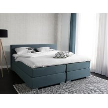 Super King Size Bed - Box Spring - 180x200 cm - Grey and Green - PRESIDENT
