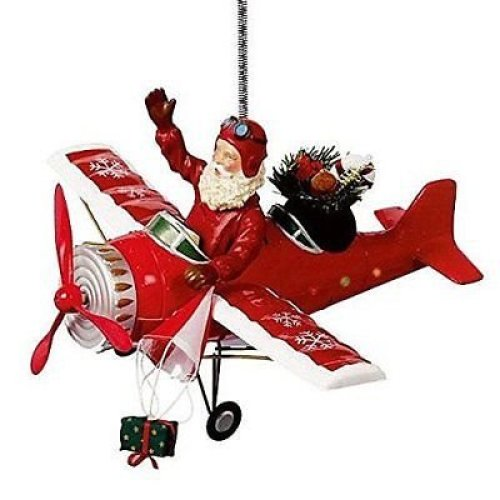 Christmas Sound Activated Flying Santa Claus Music & Lights Aeroplane