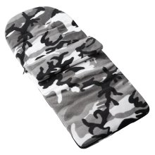 Fleece Footmuff Compatible With Hauck Shopper Freerider Duett - Grey Camouflage