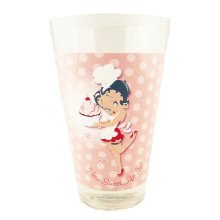 Betty Boop Half Pint Glass How Sweet Life Is