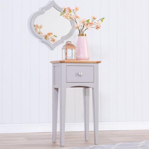Malvern Shaker Grey Painted Oak Telephone Table