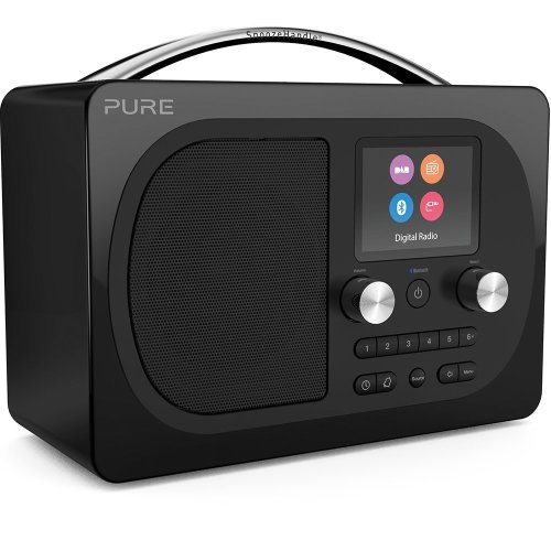 Pure Evoke H4 Prestige Edition Portable DAB/DAB+/FM Radio Sound System with Bluetooth Music Streaming, Alarms, Snooze Handle and Full Colour...